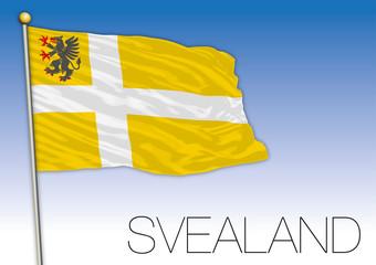 Svealand regional flag, Sweden, vector illustration