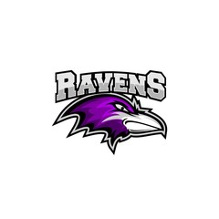 raven head logo sport