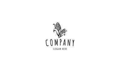 Corn Farm agriculture black vector logo design