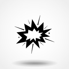 Boom icon. Pictogram flat design for apps and websites, Isolated on white background, Vector illustration