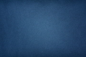 Blue fabric texture. Textile background with vignette
