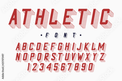 Athletic font, varsity and college alphabet  Original