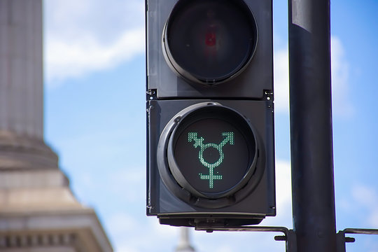 Equality traffic lights in London,Uk.