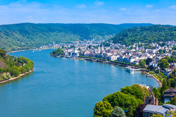 Boppard town aerial view, Germany