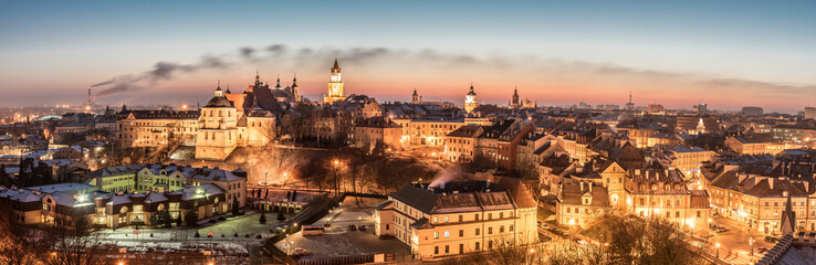 Panorama of old town in City of Lublin, Poland Wall mural