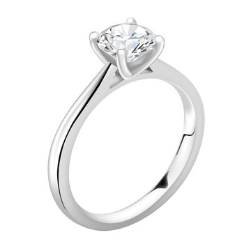 Realistic vector ring with diamond