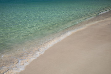 Beach, sand, water of the Caribbean