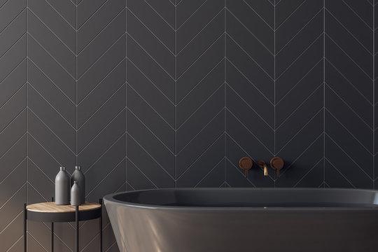 Clean black bathroom
