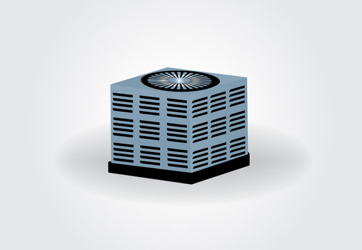 Central air conditioning icon logo vector