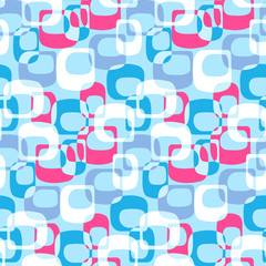 Seamless abstract pattern with the image of oval geometric shapes