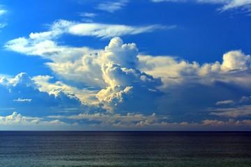 Wall Mural - Australian Coastline summer ocean storm clouds on the horizon
