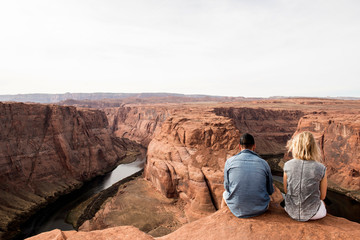Couple in Grand Canyon
