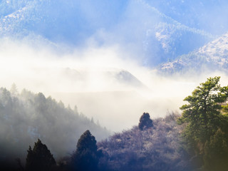 Deurstickers Bergen Dust Storm in the Foothills of the Rocky Mountains