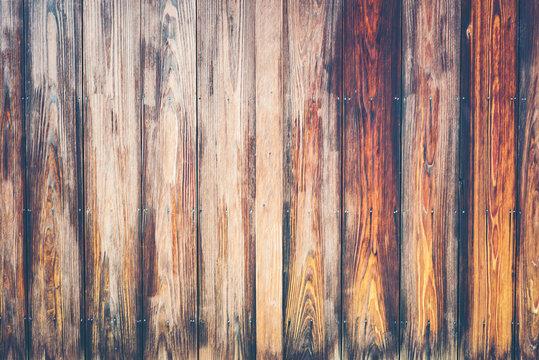 Old wood texture background, vintage filter image