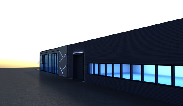 3d render exterior mall, exterior visualization, 3D illustration