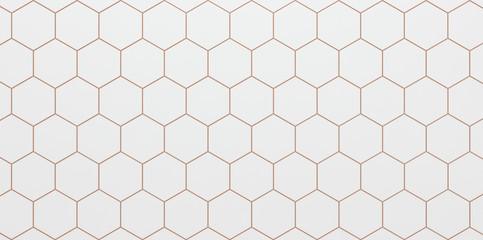 Light background of white hexagonal cells  - 3D illustration