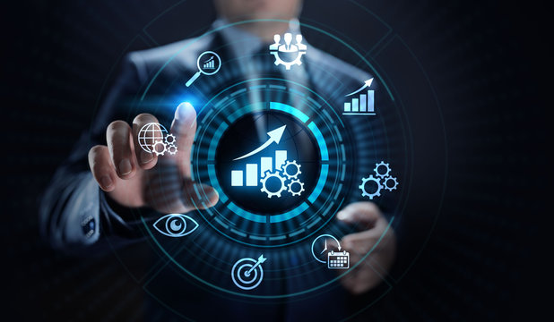 KPI key performance indicator increase optimisation business and industrial process.