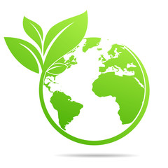 Fototapeta World environmental ,saving logo and ecology friendly concept  Vector illustration obraz