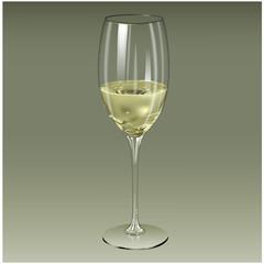wineglass design poster label