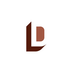 Fototapeta brown letter l and d ld logo icon vector element obraz