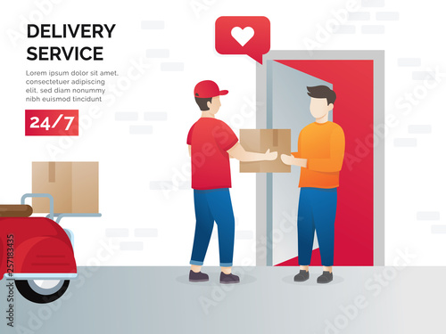 Illustration concept of freight forwarding services  Vector