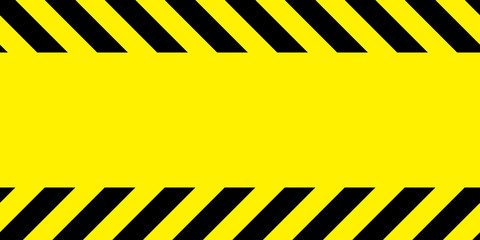 Yellow and black barricade tape.