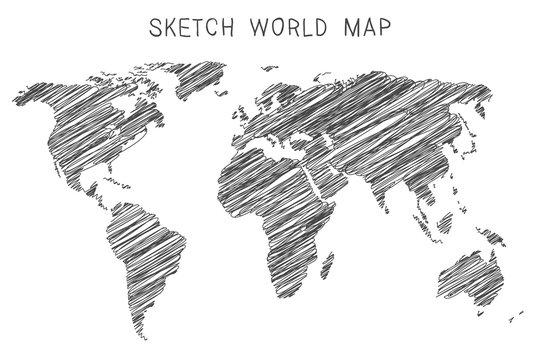 Sketch world map