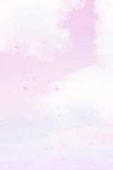 Wall Mural - 桜と空(ピンクのソフトなイメージ)