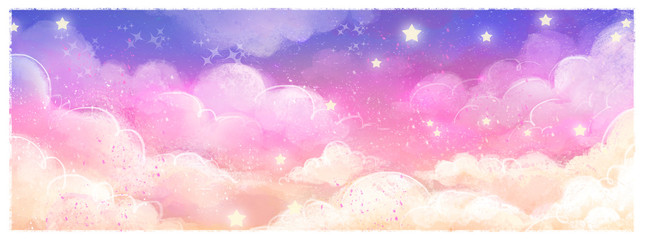 Canvas Prints Light pink fondo de cielo magico
