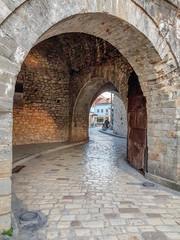Fototapeta Ioannnina city castle main  gate and pedestrian road Greece