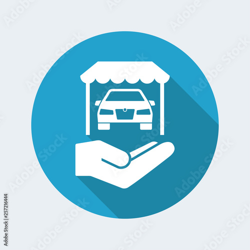 Sensational Automotive Showroom Services Icon Stock Image And Royalty Download Free Architecture Designs Scobabritishbridgeorg