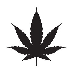 Marijuana cannabis weed vector leaf icon logo symbol graphic illustration