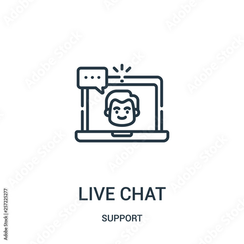 live chat icon vector from support collection  Thin line