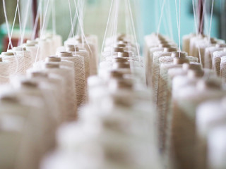 Textile threads industry . Fotomurales