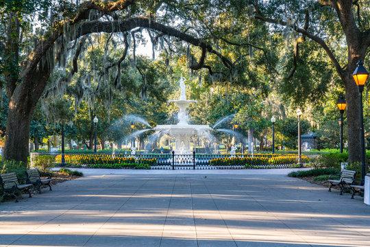 Fountain in Forsyth Park, Savannah