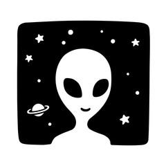 Cartoon alien drawing
