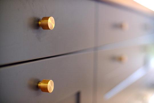 Brass kitchen knobs