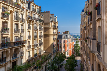 Residential buildings in Paris, France.
