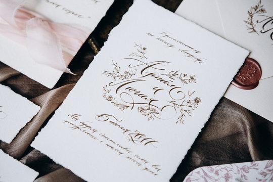 Wedding details, wedding envelope, wedding invitation.