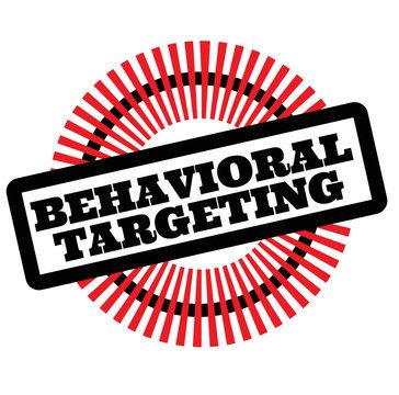 Print behavioral targeting stamp on white