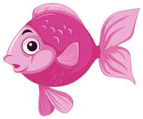 happy pink fish in water