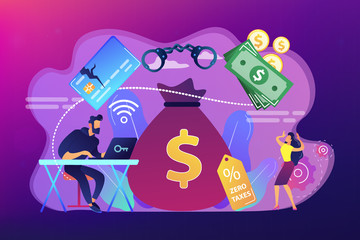 Financial crimes concept vector illustration. - fototapety na wymiar