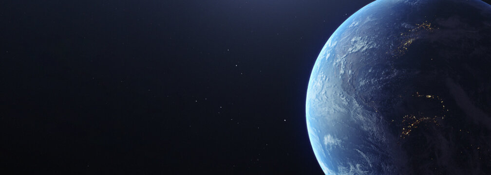 Photorealistic earth from space