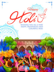 colorful promotional background for Festival of Colors
