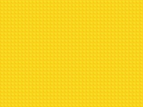 Yellow plastic constructor blocks plate seamless pattern flat design