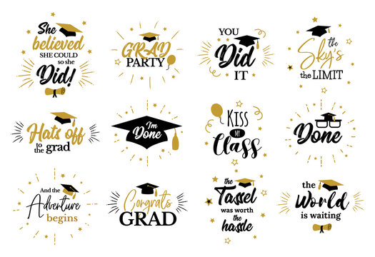 Inspirational grad party quotes to congrat graduates