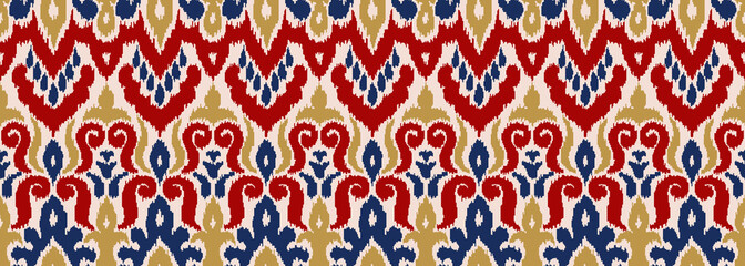 Abstract Vector Seamless Pattern in Ethnic Style