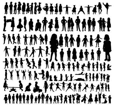 silhouette kids set