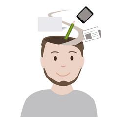 Arbeit im Kopf