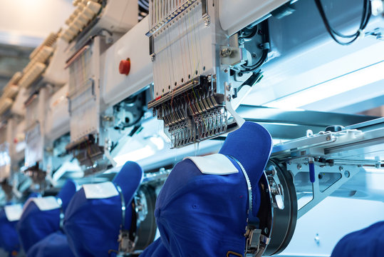 Embroidery Machine. Industrial equipment for the textile industry